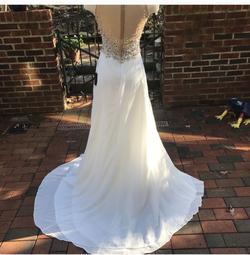Terani Couture White Size 2 Train Dress on Queenly
