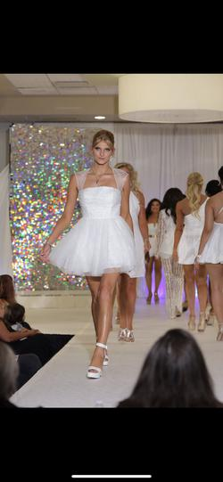 Sherri Hill White Size 12 Homecoming Flare Cocktail Dress on Queenly