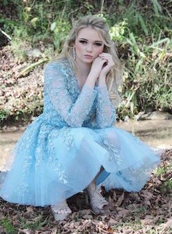 Sherri Hill Blue Size 4 Homecoming Flare Cocktail Dress on Queenly