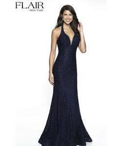 Flair New York Blue Size 6 Straight Dress on Queenly