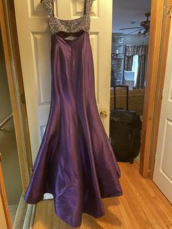 Jovani Couture Purple Size 4 Pageant Jersey Silk Mermaid Dress on Queenly