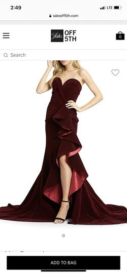 Mac Duggal Red Size 4 Pageant Side slit Dress on Queenly