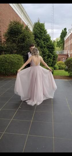 Angela & Alison Pink Size 6 Sequin Ball gown on Queenly