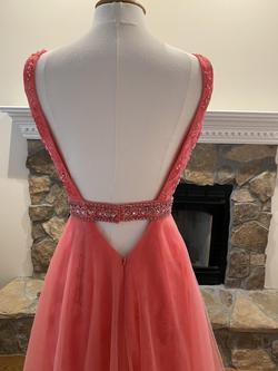 Orange Size 4 Straight Dress on Queenly