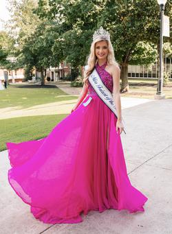Jovani Pink Size 2 Custom Side slit Dress on Queenly