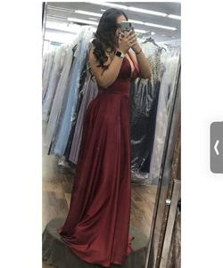 Cinderella Red Size 12 Prom Wedding Guest Bridesmaid Straight Dress on Queenly