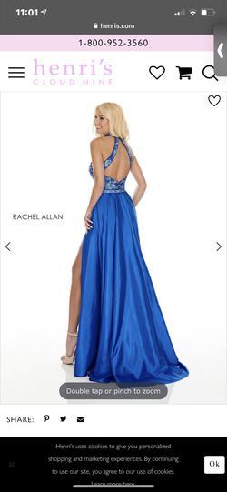 Rachel Allan Blue Size 4 Straight Dress on Queenly