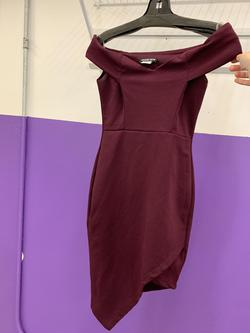 Fashion Nova Red Size 2 Bodycon Jersey Burgundy Cocktail Dress on Queenly