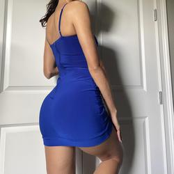 B. Darlin Blue Size 2 Sorority Formal Bodycon Cocktail Dress on Queenly