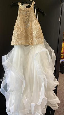 Say Yes to the Prom White Size 20 Ruffles Pageant Ball gown on Queenly