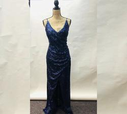 Blue Size 14 Straight Dress on Queenly