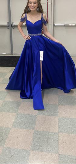 Sherri Hill Blue Size 00 Pageant Girls Size Ball gown on Queenly