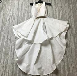 Jessica Angel White Size 2 Party V Neck Cocktail Dress on Queenly