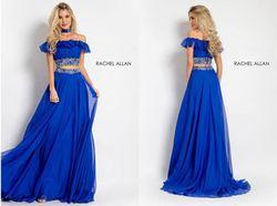 Rachel Allen Royal Blue Size 6 Pageant A-line Dress on Queenly