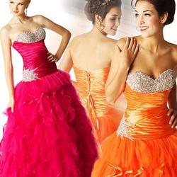 Style 6143H Mac Duggal Pink Size 6 Corset Macduggal Tall Height Ball gown on Queenly