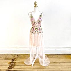 Aidan Mattox Pink Size 2 Lace Wedding Guest Straight Dress on Queenly