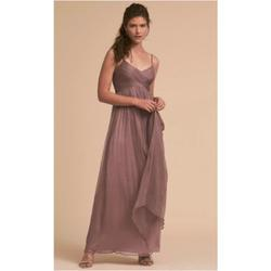 Style Brigitte BHLDN Purple Size 4 Tall Height V Neck Wedding Guest A-line Dress on Queenly