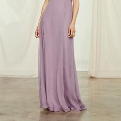 Style G849C Amsale Purple Size 8 Sheer Tall Height Wedding Guest A-line Dress on Queenly