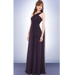 Style 675 Bill Levkoff Blue Size 4 Bridesmaid Fitted A-line Dress on Queenly