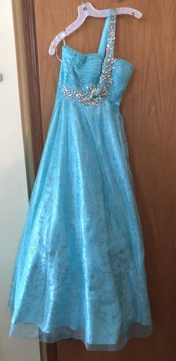 Masquerade Blue Size 2 Sequin Ball gown on Queenly