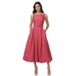 Style Juliet Kay Unger Pink Size 4 Bridesmaid Coral Belt A-line Dress on Queenly