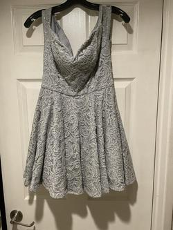B. Darlin Silver Size 10 Homecoming Flare A-line Dress on Queenly