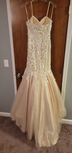Vienna Nude Size 2 Prom Ivory Sequin Mermaid Dress on Queenly