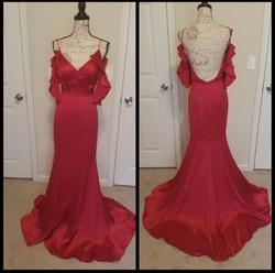 Jovani Red Size 4 Party Pageant A-line Dress on Queenly