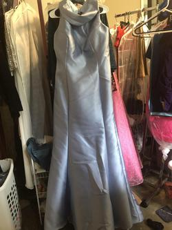 Alyce Paris Blue Size 20 Mermaid Keyhole Train Straight Dress on Queenly