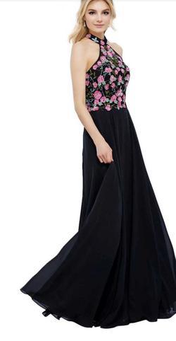 Noxanabel Multicolor Size 8 Pink Halter Sequin A-line Dress on Queenly