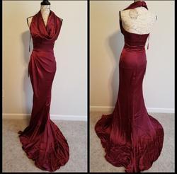 Portia & Scarlett Red Size 2 Halter Mermaid Dress on Queenly