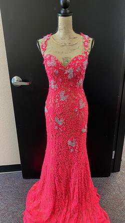 Jovani Pink Size 6 Sweetheart Straight Dress on Queenly
