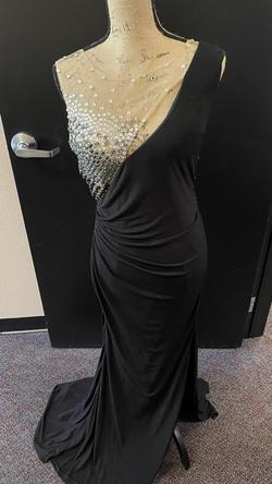 Jovani Black Size 10 Prom Pageant Sequin Side slit Dress on Queenly