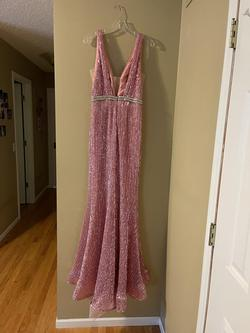 Jovani Pink Size 8 Jewelled Mermaid Dress on Queenly