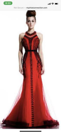 Johnathan Kayne Red Size 2 Prom Mermaid Dress on Queenly