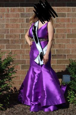 Mac Duggal Purple Size 14 Mermaid Dress on Queenly