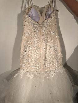 Tiffany Designs White Size 12 Strapless Pageant Mermaid Dress on Queenly