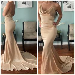 Portia & Scarlett Nude Size 0 Wedding Guest Train Pageant Mermaid Dress on Queenly
