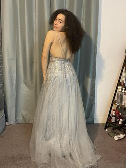 Elizabeth K by GLS Silver Size 8 Pageant Short Height Straight Dress on Queenly