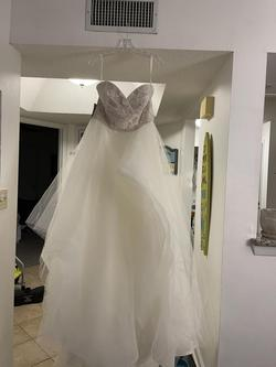 Hayley Paige Nude Size 14 Tulle Ball gown on Queenly