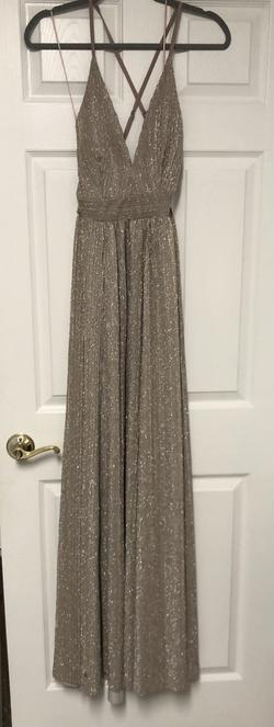 Gold Size 4 Straight Dress on Queenly