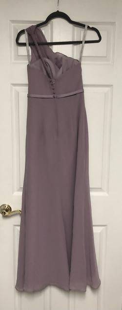 alfred angelo Purple Size 0 Bridesmaid Belt Straight Dress on Queenly
