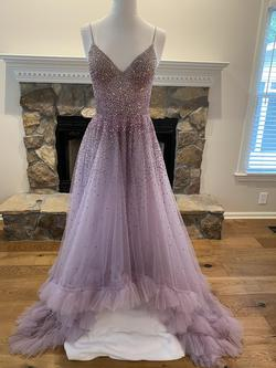 Mac Duggal Purple Size 4 Train Ball gown on Queenly