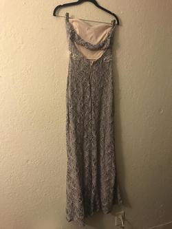 Jodi Kristopher Silver Size 10 Wedding Guest Bridesmaid Strapless Side slit Dress on Queenly