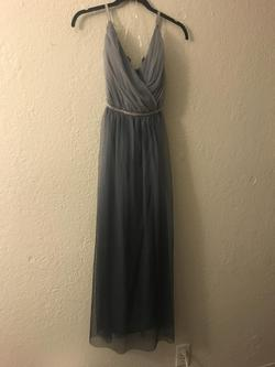 Candalit Silver Size 6 Straight Dress on Queenly