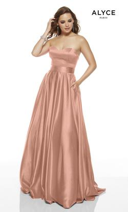 Style 1427 Alyce Paris Pink Size 30 Plus Size Tall Height Wedding Guest A-line Dress on Queenly