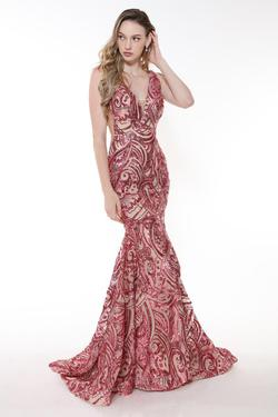Style 33260 Ava Presley Pink Size 0 Tall Height Mermaid Dress on Queenly