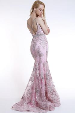 Style 35706 Ava Presley Light Pink Size 8 Pageant Mermaid Dress on Queenly