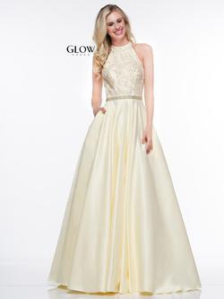 Style G835 Colors Yellow Size 24 Halter Pageant Ball gown on Queenly