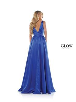 Style G904 Colors Royal Blue Size 24 Ball Gown Side slit Dress on Queenly